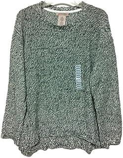 Ladies Long Sleeve Pullover Sweater, Dream Ivory/Black
