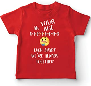 lepni.me Kids T-Shirt Custom Happy Birthday Quarantine Even Apart We are Together