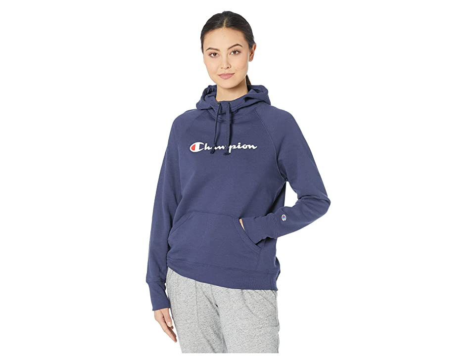 Champion Fleece Pullover Hoodie w/ Graphic (Imperial Indigo) Women