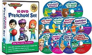 10 DVD Preschool Set by Rock 'N Learn (Alphabet, Colors, Shapes, Counting, Preschool Phonics, Get Ready for School, Nurser...