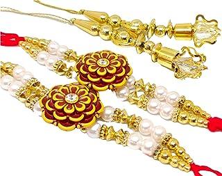 Indian Rakhi raksha bandhan Rakhi for Brother Rakhi Rakhi Gift for Sister Rakhi for Kids Rakhi for Brother Bracelet Set Fa...