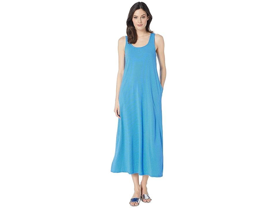 Fresh Produce Pinstripe Juliet Maxi Dress (Atlantic Blue) Women