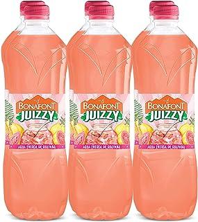 Bonafont Juizzy, Agua Fresca Con Jugo Natural de Guayaba, 1 litro, 6 pack