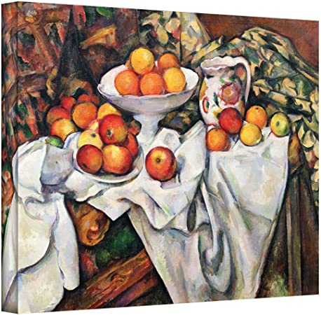 Art Wall Paul Cezanne Apples And Oranges Gallery Wrapped Canvas 36 X 48 Amazon Ca Home Kitchen