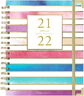 """2019-2020 Planner - Academic Weekly & Monthly Planner, Thick Paper with with Colorful Tabs - 10"""" x 8"""", Twin-Wire Binding w..."""