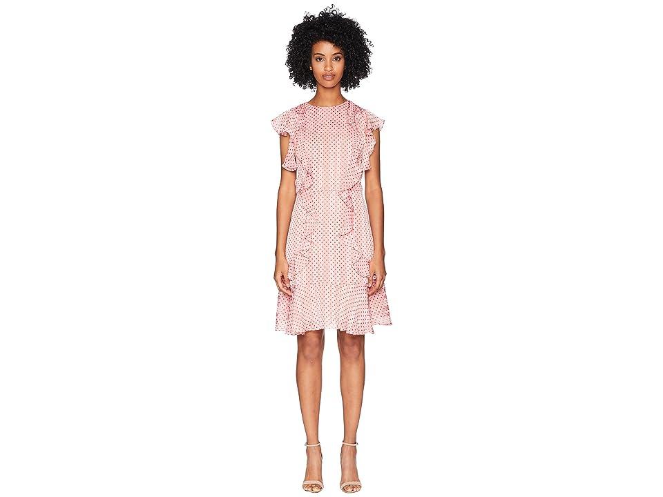 ML Monique Lhuillier - ML Monique Lhuillier Cap Sleeved Dress with Flounce