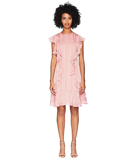 ML Monique Lhuillier Cap Sleeved Dress with Flounce