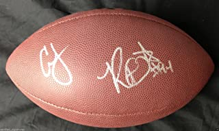CORTLAND FINNEGAN ROBERT QUINN SIGNED NFL FOOTBALL ST LOUIS RAMS PROOF COA J1