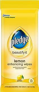 Pledge Lemon Wipes, 24 Count (Pack of 2)
