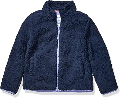 Amazon Essentials Girls' Sherpa Fleece Full-Zip Jacket