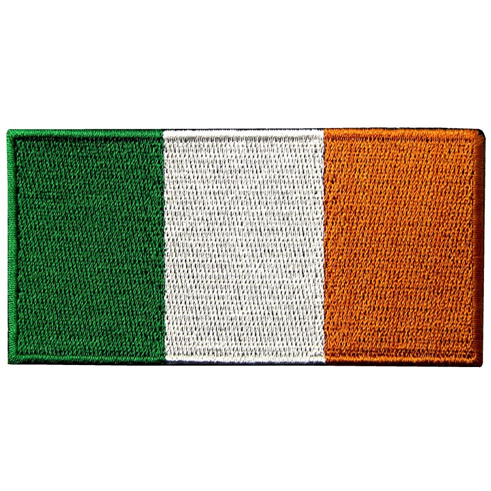 Republic of Ireland Flag Embroidered Irish National Emblem Iron On Sew On Patch
