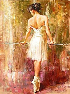 Sqailer 5D DIY Diamond Painting Full Square Drill Ballet Dancer Rhinestone Embroidery for Wall Decoration 12X16 inches