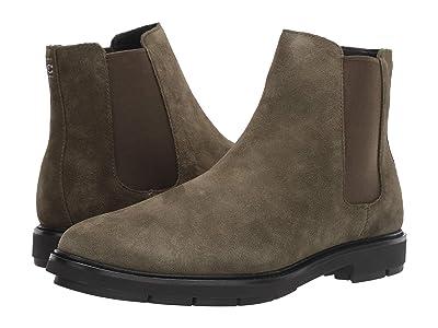 COACH Suede Chelsea Boot (Olive) Men