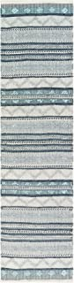 Liora Manne CMSR8827147 Cosmos Gypsy Stripe Grey Indoor/Outdoor Runner Rug, 2' X 8', Beige