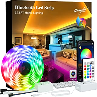 10M/32.8FT Luces LED Para Cuarto Bluetooth APP, Tira de Luces LED 10 Metros, 5050 Tira LED RGB Music, luz led para cuarto ...