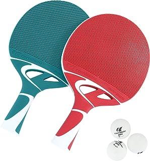 comprar comparacion Cornilleau Tacteo Duo Set de 2 Raquetas y 3 Pelotas, Unisex Adulto, Verde/Rojo, Talla Única