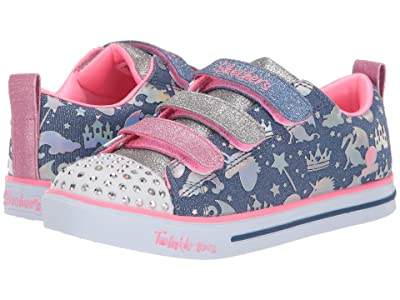 SKECHERS KIDS Twinkle Toes Sparkle Lite 20274L (Little Kid/Big Kid) (Light Blue/Multi) Girl