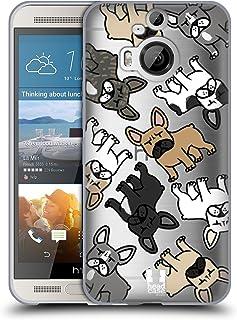 Head Case Designs 繝輔Ξ繝ウ繝√ヶ繝ォ 繝峨ャ繧ー繝悶Μ繝シ繝峨・繝代ち繝シ繝ウ HTC One M9+ 蟆ら畑繧ス繝輔ヨ繧ク繧ァ繝ォ繧ア繝シ繧ケ