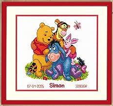 Disney Winnie the Pooh Birth Record Counted Cross Stitch Kit