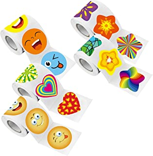 1000 Pcs Teacher Reward Encouragement Motivational Sticker Mega Pack 40 Designs in 5 Themes with Perforation Line (Each me...