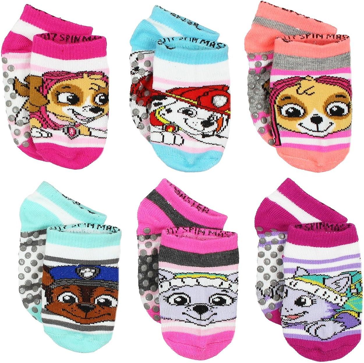 Paw Patrol Girls 6 pack Gripper Socks (Baby)