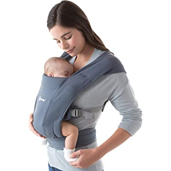 Ergobaby Embrace Baby Carrier for Newborns from Birth with Head Support, Extra Soft and Ergonomic (Oxford Blue)
