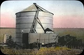 Home Comforts Image Description: This View is of a Storage Tank for Wheat on a Great Eastern Oregon Wheat Farm. Vivid Imagery Laminated Poster Print 24 x 36