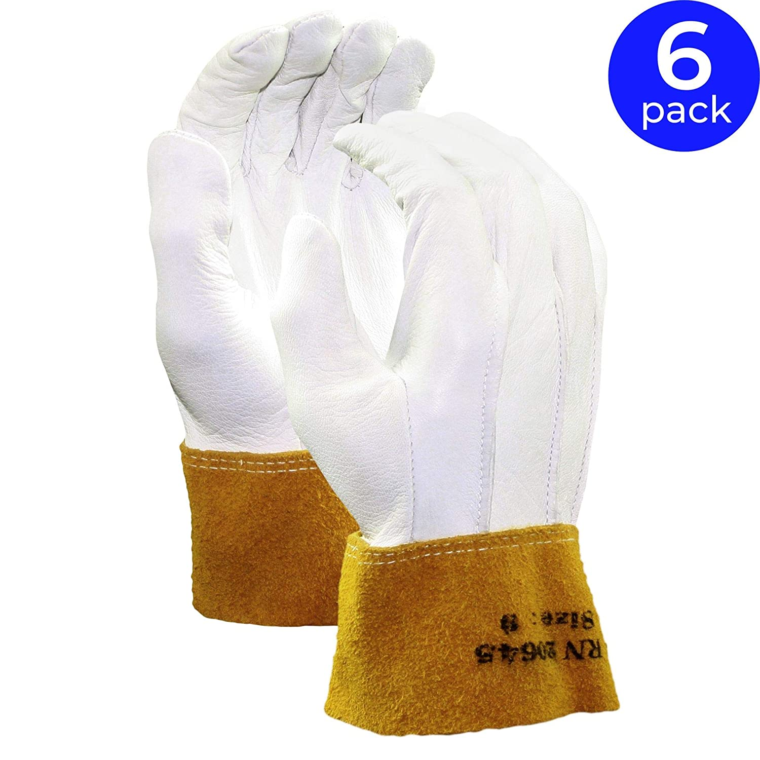 Stauffer Goatskin Max 46% OFF MIG TIG Welding Gloves Cuff Direct store Gol with Leather