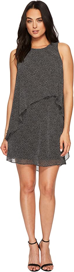 LAUREN Ralph Lauren - Lonia Auburn Dot Flat Georgette Dress