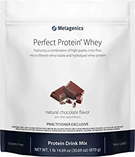 Metagenics Perfect Protein® Whey – Cross-Flow Micro-Filtered Whey Isolate & Hydrolyzed Whey Protein | 30 Servings (Chocola...