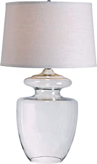 Kenroy Home 32260CLR Apothecary Table Lamp, Clear Glass Finish