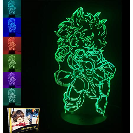 remote control 3D LED Night Light,Anime Hero Academia Figure Bakugou Katsuki Manga Figurine Table Lamp Kids Bedroom Decor for Xmas//Birthday