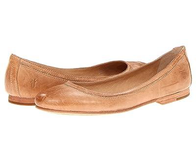 Frye Carson Ballet (Beige Antique Soft Vintage Full Grain) Women