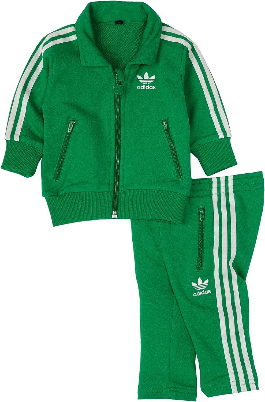 Adidas Infants Firebird Tracksuit, Fairway/White
