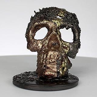 Grúa CLXVII - Escultura cráneo acero bronce latón - Arte de vanita - Buil