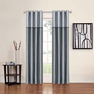 Eclipse 14704052095GRE Arno 52-Inch by 95-Inch Thermal Blackout Single Window Curtain Panel, Grey