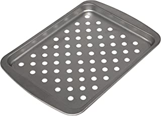 """G & S Metal Products Company Sensations Small Top Pan-Steel Grill Basket, 8. 5"""" x 6. 5"""", Gray"""