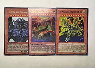 Yu-Gi-Oh! - Egyptian God Card Set Alternate Art ALL REAL