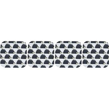 Black CST/_223181/_1 3dRose Print of Text Vegan Soft Coasters Set of 4