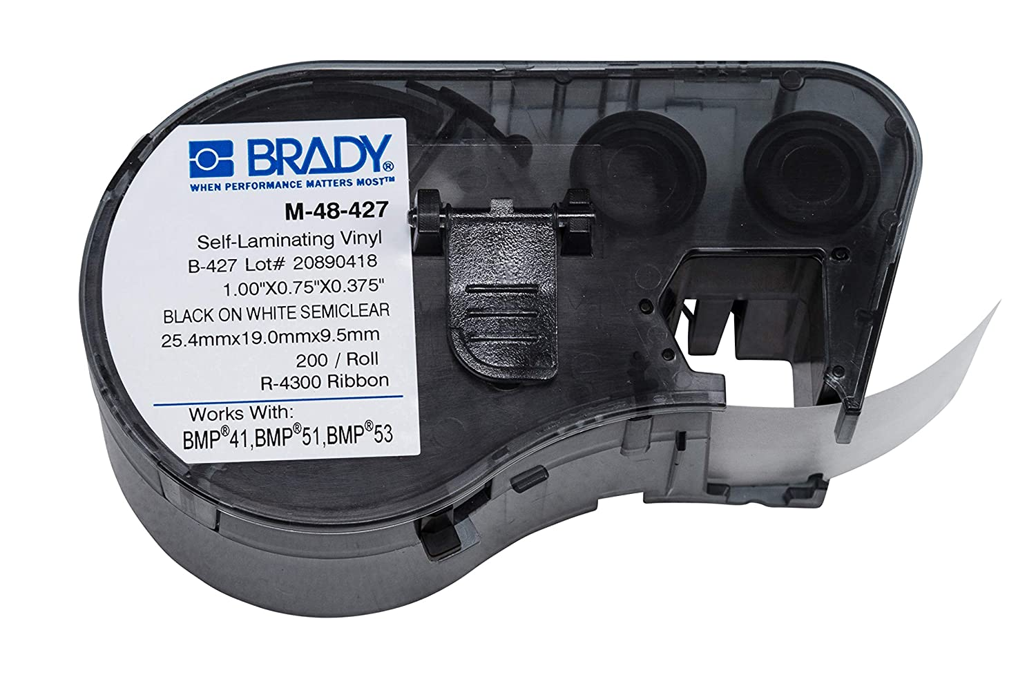 Brady Super beauty product restock quality top! - Year-end gift 131584 Self-Laminating Vinyl Tape on Black White Label