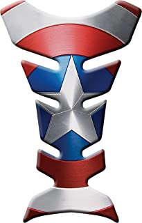 MOTORCYCLE TANK PROTECTOR PAD CAPTAIN AMERICA - UNIVERSAL - WITH KEYCHAIN