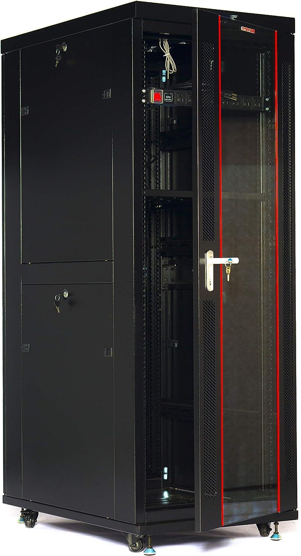42U Rack Server Cabinet 32 Inch Deep IT Data Network Enclosure (LED Screen Air Cooling)