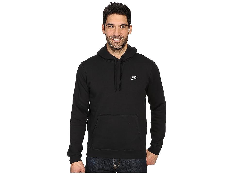 Nike Club Fleece Pullover Hoodie (Black/Black/White) Men