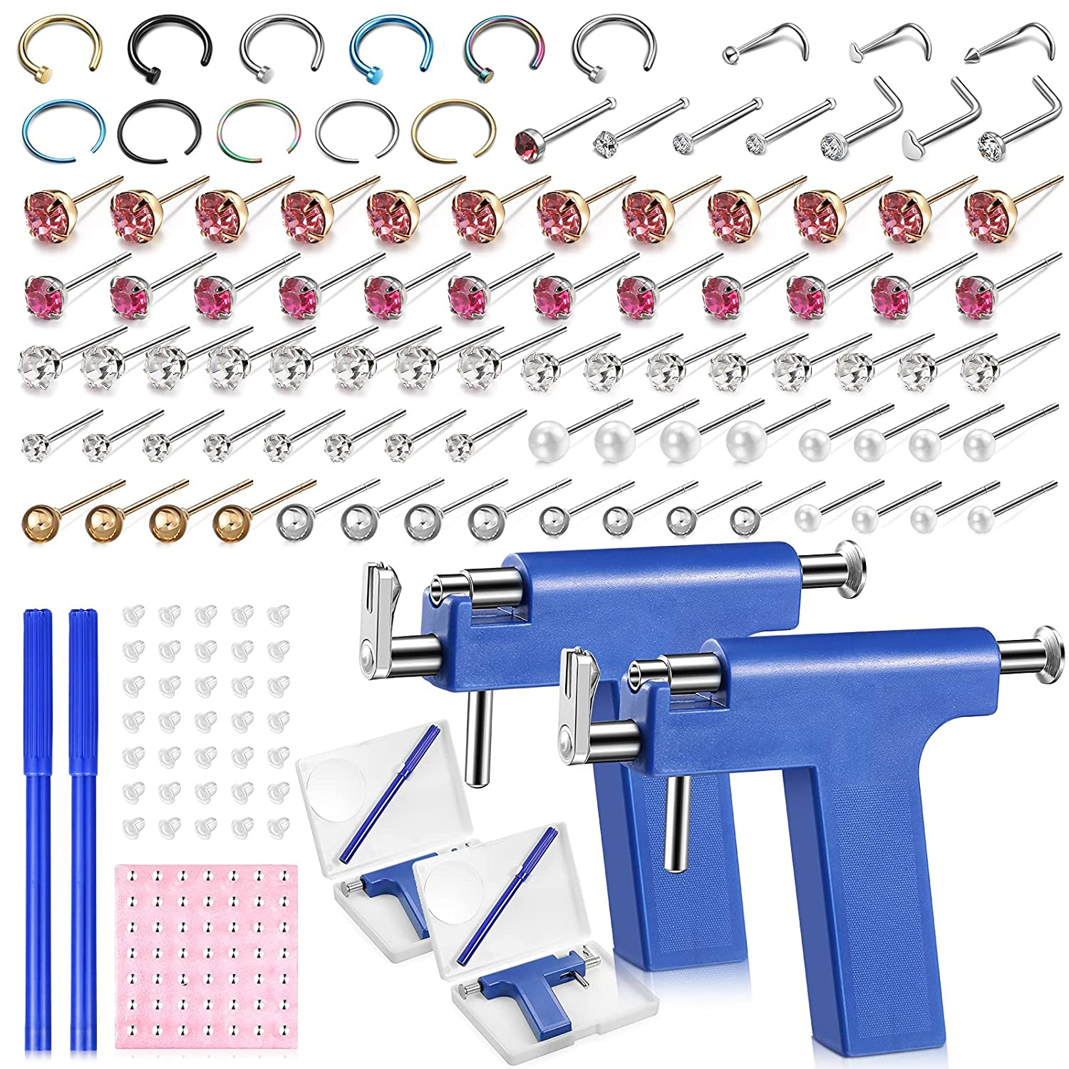 158 Pieces Nose Ear Denver Mall Denver Mall Piercing Tool T Disposable Kit
