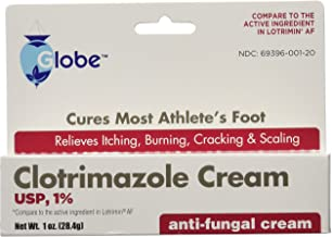 (5 Pack) Clotrimazole Antifungal Cream 1% USP 1.0 oz Compare to Lotrimin Active Ingredient