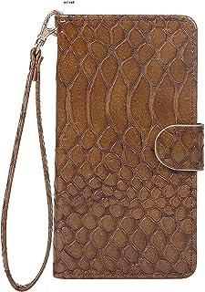 OPPO R15 Neo SIMフリー専用 おしゃれ かっこいい 爬虫類 うろこ柄 ブラウン スマホケース スマホカバー 手帳型 横開き 横型 携帯ケース 携帯カバー ジャケット