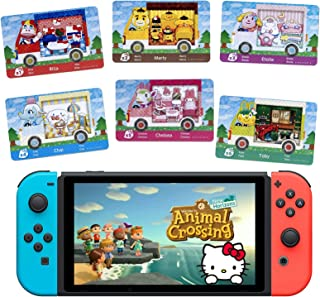 DMLNN 6PCS for Aminal Crossing Sanrio NFC Amiibo Mini Card for Switch and Switch Lite.