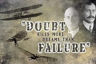 Pilot Classroom Poster Wright Brothers Motivational Mindset School Posters Aeronautical Aviator Mindsets Decorations Private Airplane Pilots Teacher Quotes Kindergarten Educational Flight Aviation