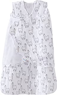 Halo 100% Cotton Muslin Sleepsack Swaddle Wearable Blanket, Llama Print, Small