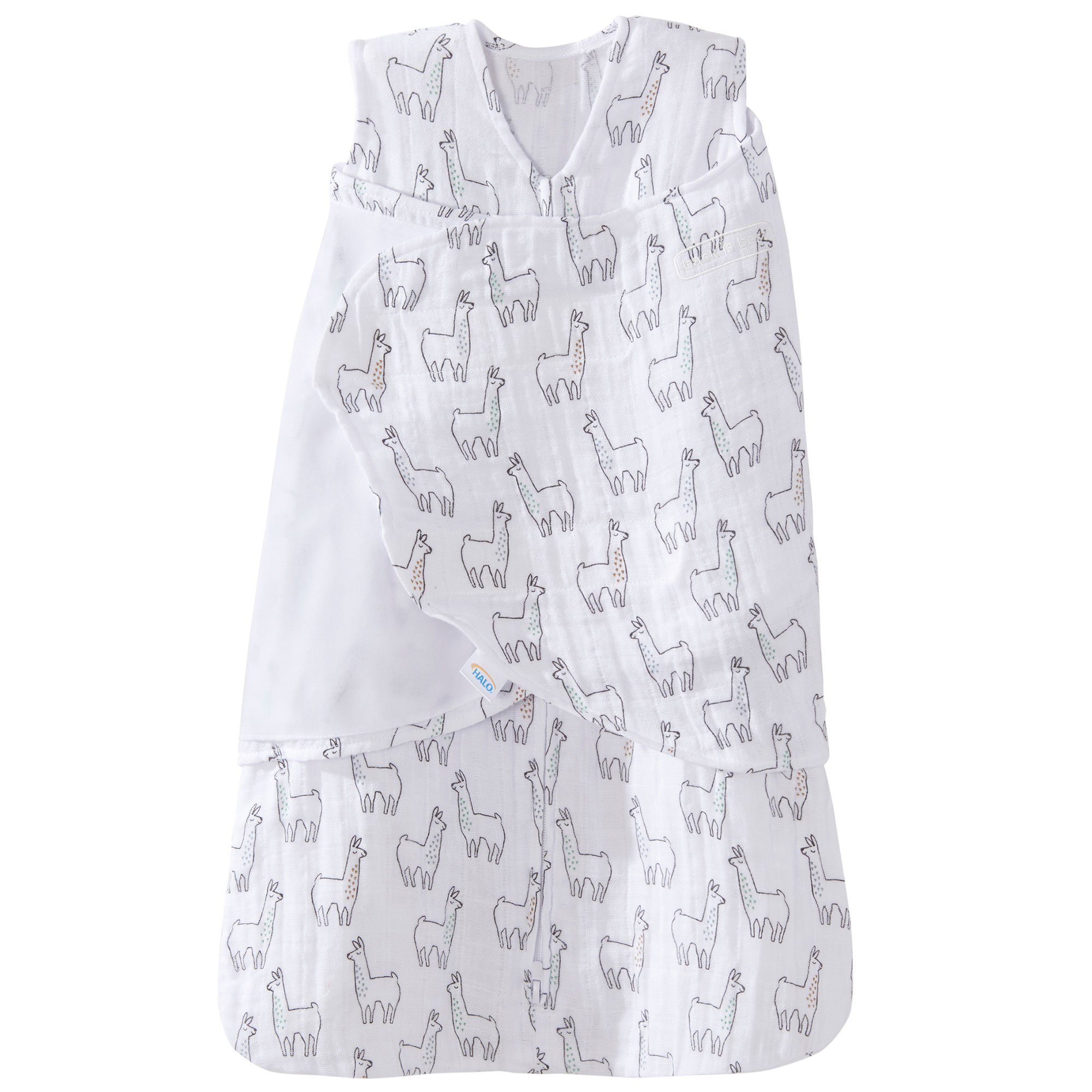 Newborn Size NB Halo Innovations HALO SleepSack Swaddle/ Cotton Lamb Scribble White